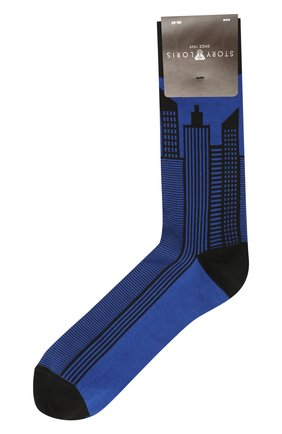 Мужские хлопковые носки STORY LORIS синего цвета, арт. 1613 | Фото 1