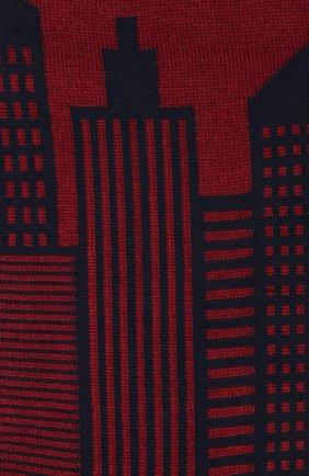 Мужские хлопковые носки STORY LORIS бордового цвета, арт. 1613 | Фото 2