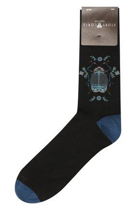 Мужские хлопковые носки STORY LORIS черного цвета, арт. 1467 | Фото 1