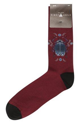 Мужские хлопковые носки STORY LORIS бордового цвета, арт. 1467 | Фото 1