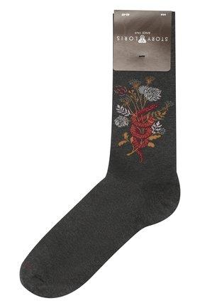 Мужские хлопковые носки STORY LORIS темно-серого цвета, арт. 135 | Фото 1