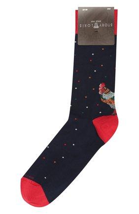 Мужские хлопковые носки STORY LORIS темно-синего цвета, арт. 123 | Фото 1