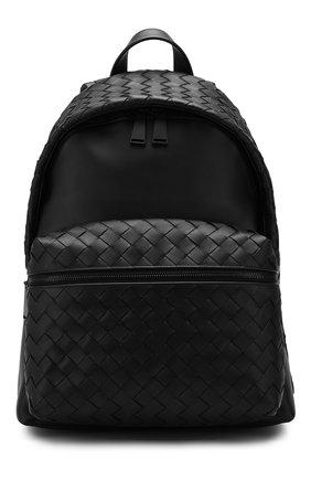 Мужской кожаный рюкзак BOTTEGA VENETA черного цвета, арт. 599634/VCPQ2 | Фото 1