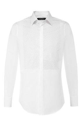 Мужская хлопковая сорочка DSQUARED2 белого цвета, арт. S74DM0370/S35244 | Фото 1