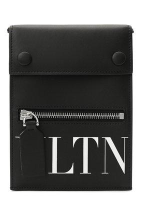 Мужская кожаная сумка vltn VALENTINO черного цвета, арт. TY2P0Q83/LVN   Фото 1