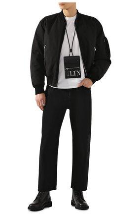 Мужская кожаная сумка vltn VALENTINO черного цвета, арт. TY2P0Q83/LVN   Фото 2