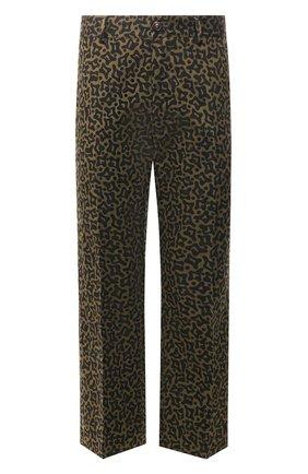 Мужской брюки из смеси хлопка и льна MARNI хаки цвета, арт. PUMU0077A0/S52590   Фото 1