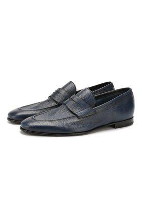 Мужские кожаные пенни-лоферы BARRETT синего цвета, арт. 091U036.36/CERV0 ASP0RTABILE | Фото 1