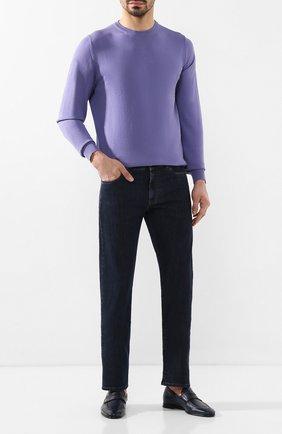 Мужские кожаные пенни-лоферы BARRETT синего цвета, арт. 091U036.36/CERV0 ASP0RTABILE | Фото 2