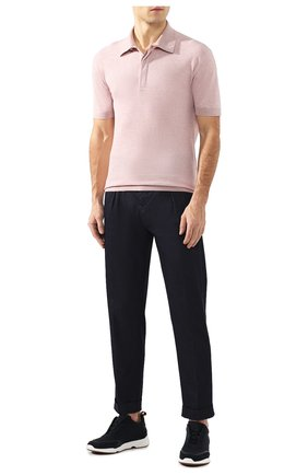 Мужское поло из смеси хлопка и шелка ERMENEGILDO ZEGNA розового цвета, арт. UU514/751   Фото 2