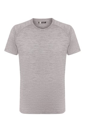 Мужская шерстяная футболка Z ZEGNA серого цвета, арт. V8390/ZZT653 | Фото 1