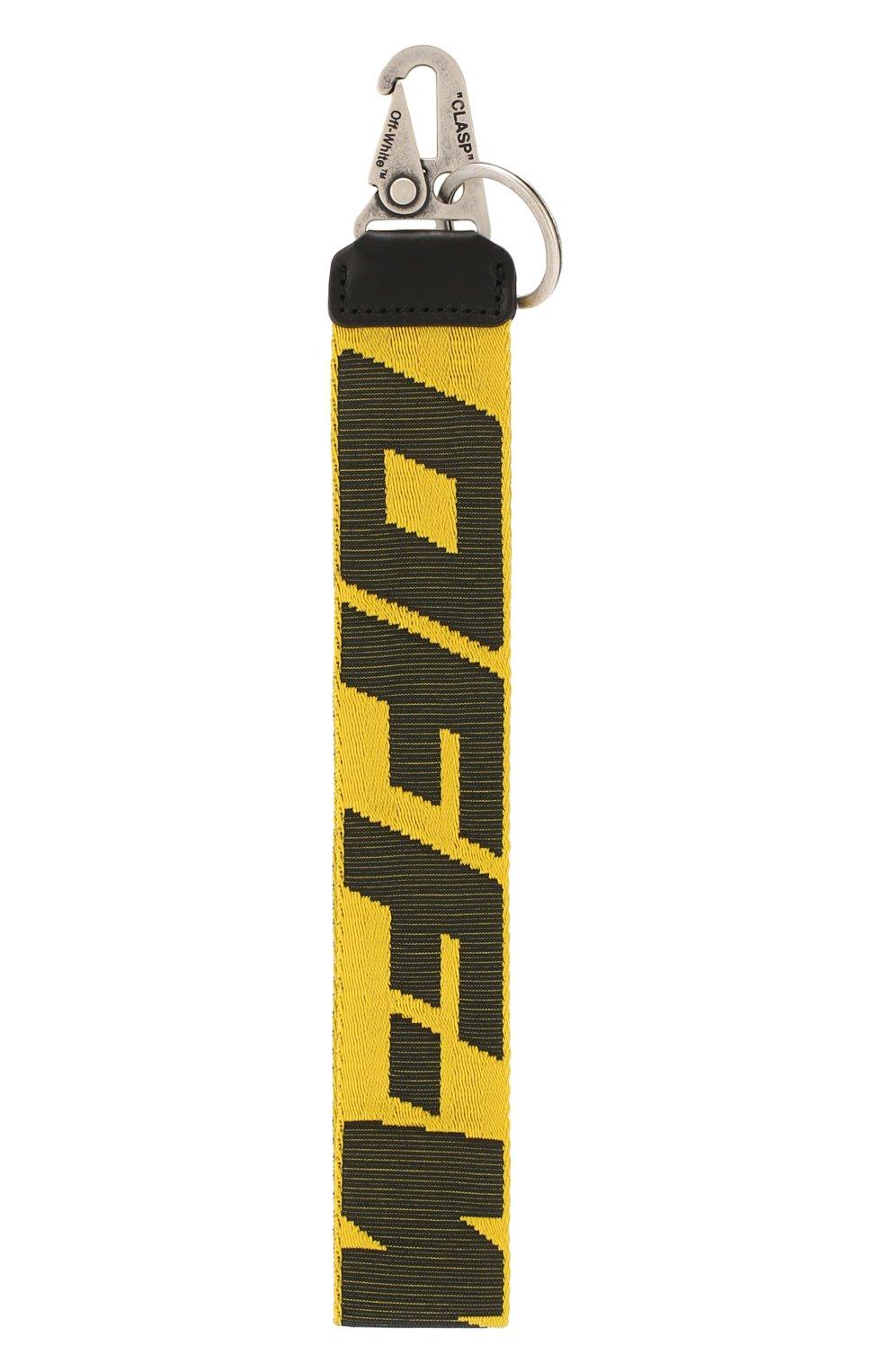 Мужской текстильный брелок OFF-WHITE желтого цвета, арт. 0MZG019R20F420356010   Фото 1