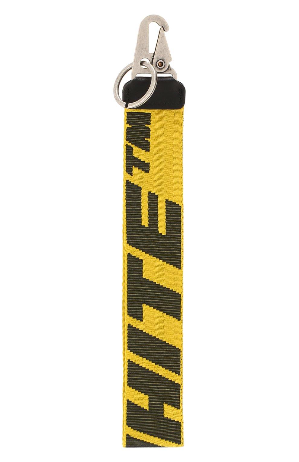 Мужской текстильный брелок OFF-WHITE желтого цвета, арт. 0MZG019R20F420356010   Фото 2