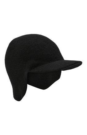 Мужской кашемировая бейсболка wellington CANOE черного цвета, арт. 4915510 | Фото 1