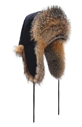 Мужская шапка-ушанка из меха лисы FURLAND бежевого цвета, арт. 0001109610099300202 | Фото 1