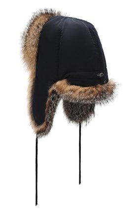 Мужская шапка-ушанка из меха лисы FURLAND бежевого цвета, арт. 0001109610099300202 | Фото 2