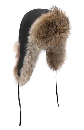 Мужская шапка-ушанка из меха койота FURLAND бежевого цвета, арт. 0001113010002300008 | Фото 1