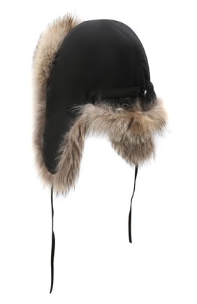 Мужская шапка-ушанка из меха койота FURLAND бежевого цвета, арт. 0001113010002300008 | Фото 2