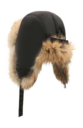 Шапка-ушанка из меха койота | Фото №2