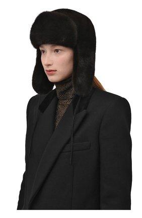 Мужская шапка-ушанка из меха норки FURLAND коричневого цвета, арт. 0217500110189600000 | Фото 2