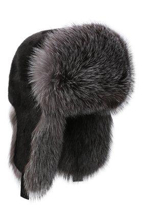 Шапка-ушанка из меха норки и лисы | Фото №1
