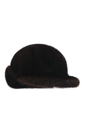 Мужской бейсболка из меха норки FURLAND коричневого цвета, арт. 0118202110034600115 | Фото 1