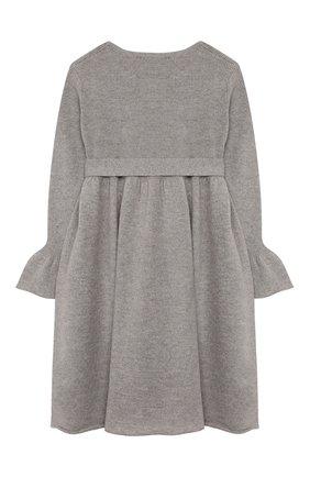 Детское шерстяное платье IL GUFO серого цвета, арт. A19VT074EM220/5A-8A | Фото 2