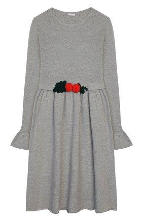Детское шерстяное платье IL GUFO серого цвета, арт. A19VT074EM220/10A-12A | Фото 1