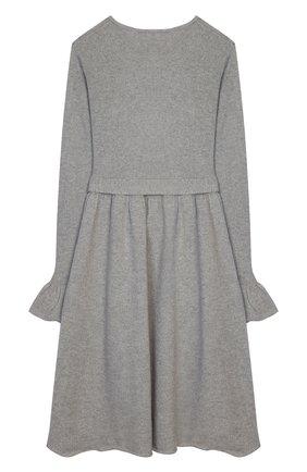 Детское шерстяное платье IL GUFO серого цвета, арт. A19VT074EM220/10A-12A | Фото 2