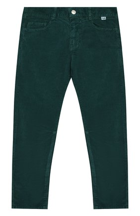 Детские хлопковые брюки IL GUFO темно-зеленого цвета, арт. A19PL255V6005/5A-8A | Фото 1