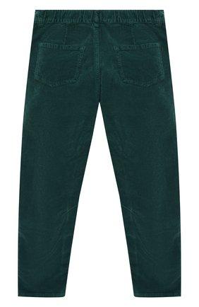 Детские хлопковые брюки IL GUFO темно-зеленого цвета, арт. A19PL255V6005/5A-8A | Фото 2