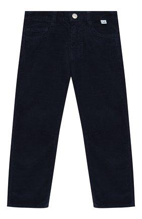 Детские хлопковые брюки IL GUFO темно-синего цвета, арт. A19PL255V6005/5A-8A | Фото 1