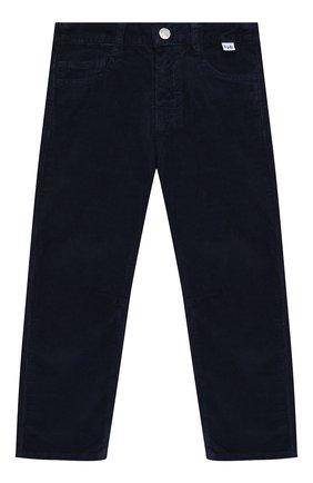 Детские хлопковые брюки IL GUFO темно-синего цвета, арт. A19PL255V6005/2A-4A | Фото 1
