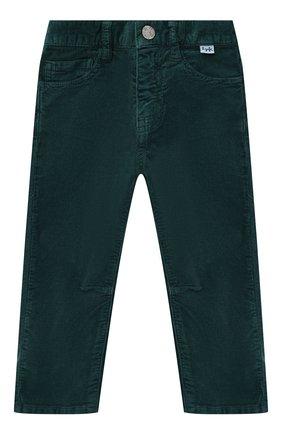 Детские хлопковые брюки IL GUFO темно-зеленого цвета, арт. A19PL255V6005/2A-4A | Фото 1