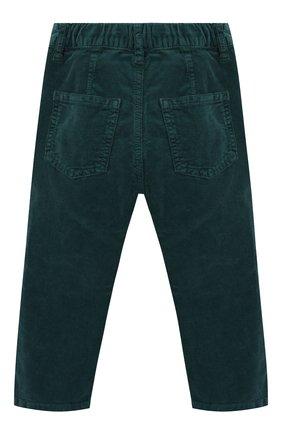 Детские хлопковые брюки IL GUFO темно-зеленого цвета, арт. A19PL255V6005/2A-4A | Фото 2