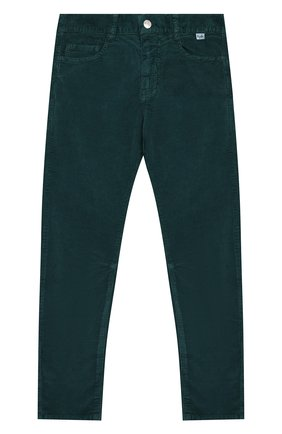 Детские хлопковые брюки IL GUFO темно-зеленого цвета, арт. A19PL255V6005/10A-12A | Фото 1