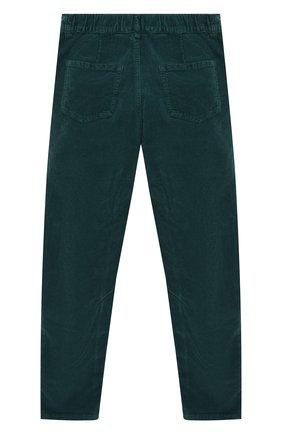 Детские хлопковые брюки IL GUFO темно-зеленого цвета, арт. A19PL255V6005/10A-12A | Фото 2