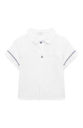 Детский комплект из рубашки и шорт IL GUFO голубого цвета, арт. P20DP324L0011/12M-18M | Фото 2