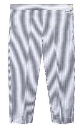 Детского хлопковые брюки IL GUFO голубого цвета, арт. P20PR004C1057/5A-8A | Фото 1