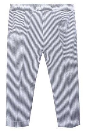 Детского хлопковые брюки IL GUFO голубого цвета, арт. P20PR004C1057/5A-8A | Фото 2
