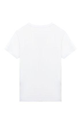 Детская хлопковая футболка IL GUFO белого цвета, арт. P20TS218M0014/2A-4A | Фото 2