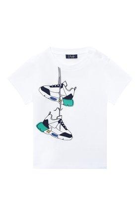 Детская хлопковая футболка IL GUFO белого цвета, арт. P20TS226M0014/2A-4A | Фото 1