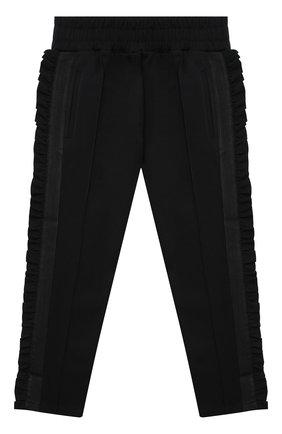 Детские брюки PHILOSOPHY DI LORENZO SERAFINI KIDS черного цвета, арт. PJPA20/JE08/UH026/L-XL   Фото 1