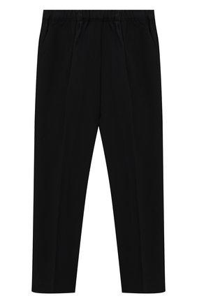 Детского брюки PHILOSOPHY DI LORENZO SERAFINI KIDS черного цвета, арт. PJPA25/GA37/UHUNI/S-M   Фото 2