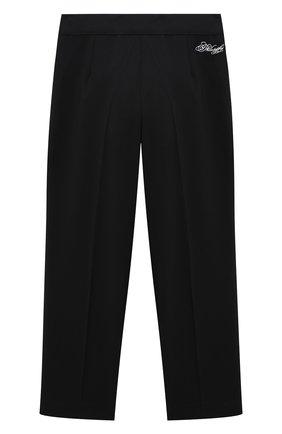 Детские брюки PHILOSOPHY DI LORENZO SERAFINI KIDS черного цвета, арт. PJPA25/GA37/UHUNI/L-XL   Фото 1