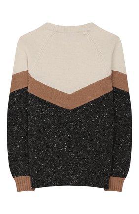 Детский шерстяной пуловер BRUNELLO CUCINELLI разноцветного цвета, арт. B46700100A | Фото 2