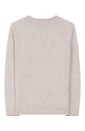 Детский пуловер из шерсти и кашемира BRUNELLO CUCINELLI бежевого цвета, арт. B3609218B | Фото 2