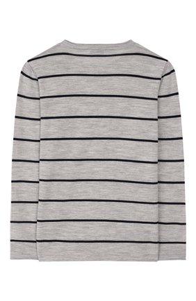 Детский шерстяной пуловер BRUNELLO CUCINELLI серого цвета, арт. B24801500B | Фото 2