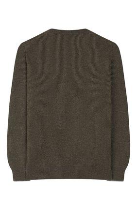 Детский кашемировый пуловер BRUNELLO CUCINELLI хаки цвета, арт. B2229510B | Фото 2