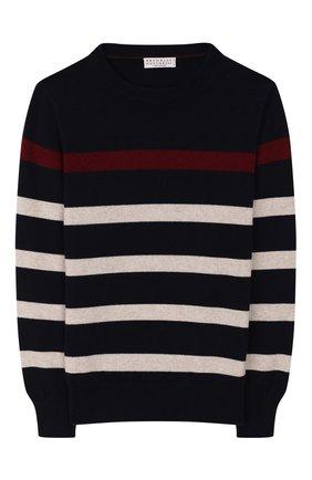 Детский кашемировый пуловер BRUNELLO CUCINELLI разноцветного цвета, арт. B2215200A   Фото 1